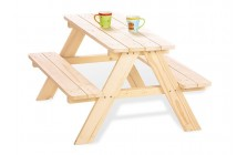 Picknicktafel voor 4 naturel
