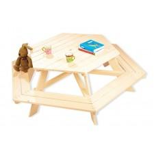 Picknicktafel 6-hoek