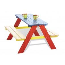 Picknicktafel voor 4 gekleurd