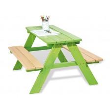 Picknicktafel voor 4 groen