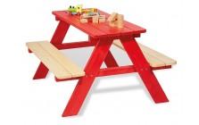 Picknicktafel voor 4 rood