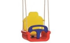 Babyzitje meegroei model rood/geel/blauw