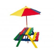 kinderpicknicktafel in kleur