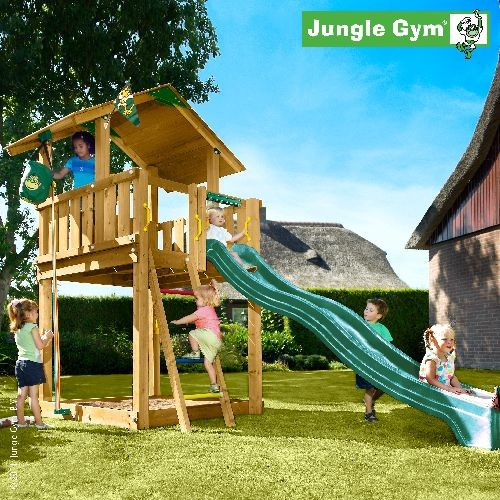 speeltoestel jungle gym chalet. Black Bedroom Furniture Sets. Home Design Ideas